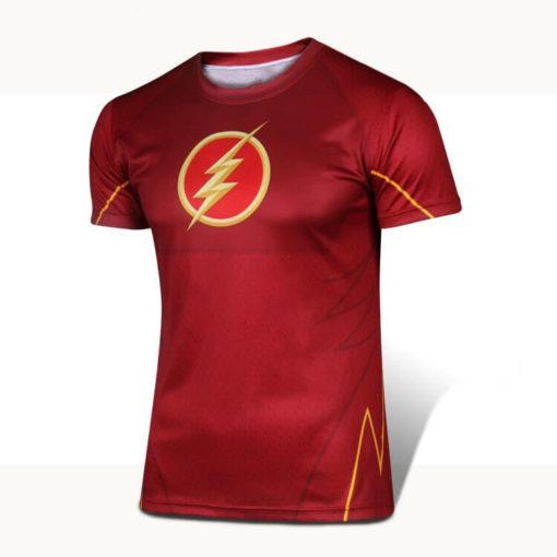 На картинке футболка «Мстители» (Марвел \ Marvel), вид спереди, вариант Флэш.