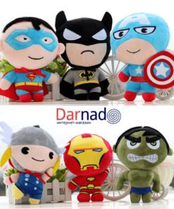 На картинке набор мягких игрушек «Мстители».