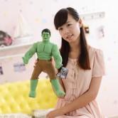 На картинке мягкая игрушка (кукла) Халк (Hulk \ Avengers \ Marvel), вид спереди.