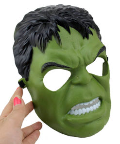 На картинке маска Халка (Hulk \ Avengers \ Marvel), вид спереди.