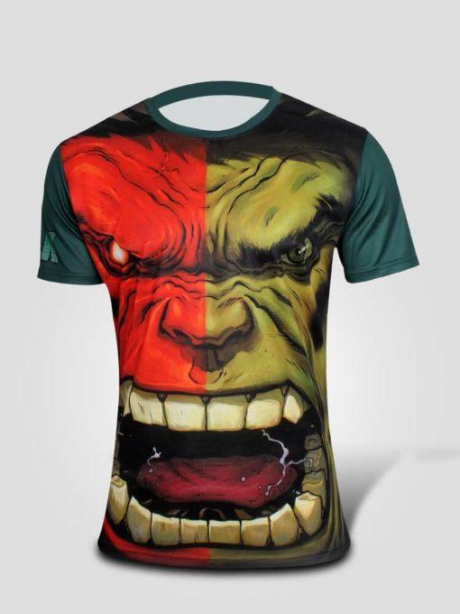 На картинке футболка «Мстители» (Марвел \ Marvel), вид спереди, вариант Халк.