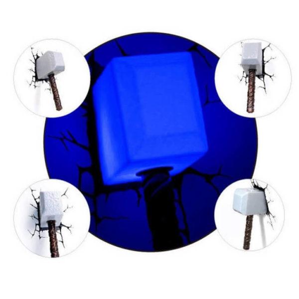 На картинке 3D-светильник «Молот Тора», общий вид.