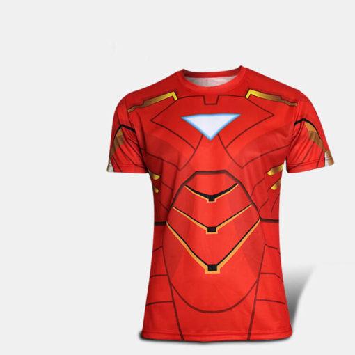 На картинке футболка «Мстители» (Марвел \ Marvel), вид спереди, вариант Железный Человек.