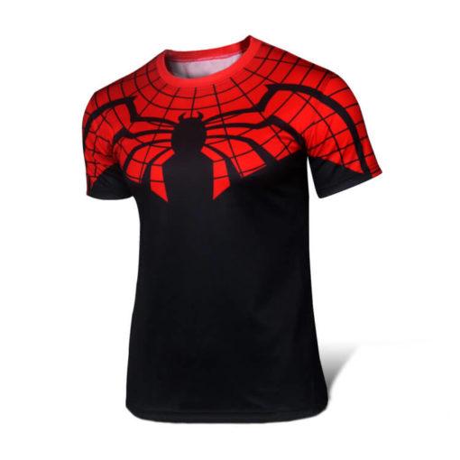 На картинке футболка «Мстители» (Марвел \ Marvel), вид спереди, вариант Новый Человек-паук.
