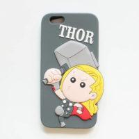 "На картинке чехол ""Мстители"" на айфон 5-5S-6 (Марвел \ Marvel), вид спереди, вариант Тор."
