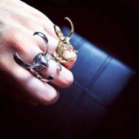 Кольцо в виде шлема Локи (Тор) фото