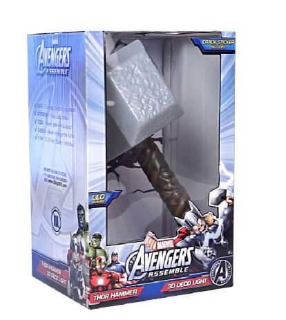 На картинке 3D-светильник «Молот Тора», в упаковке.