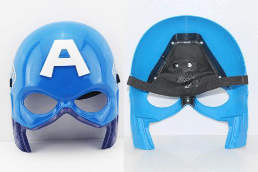 На картинке маски «Мстители» (Марвел \ Marvel) 5 вариантов, вид спереди и сзади, вариант Капитан Америка.