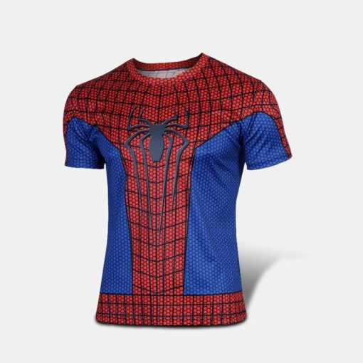 На картинке футболка «Мстители» (Марвел \ Marvel), вид спереди, вариант Человек-паук.