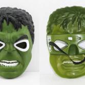 На картинке маски «Мстители» (Марвел \ Marvel) 5 вариантов, вид спереди и сзади, вариант Халк.