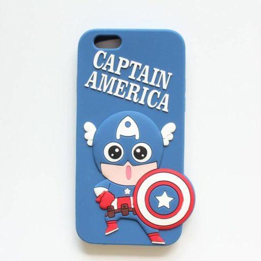 "На картинке чехол ""Мстители"" на айфон 5-5S-6 (Марвел \ Marvel), вид спереди, вариант Капитан Америка."