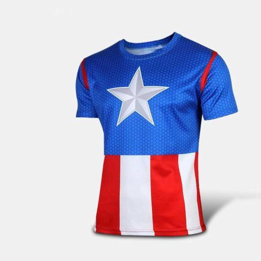 На картинке футболка «Мстители» (Марвел \ Marvel), вид спереди, вариант Капитан Америка.