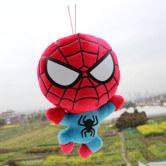 На картинке набор мягких игрушек «Мстители», вариант Человек-паук.