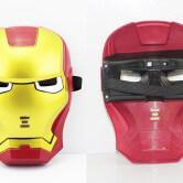 На картинке маски «Мстители» (Марвел \ Marvel) 5 вариантов, вид спереди и сзади, вариант Железный Человек.