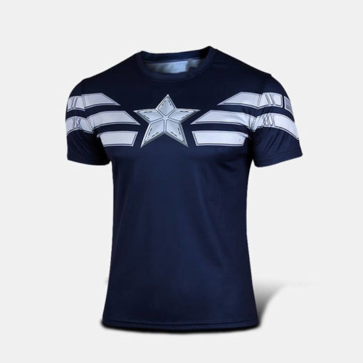 На картинке футболка «Мстители» (Марвел \ Marvel), вид спереди, вариант Капитан Америка (Мстители).
