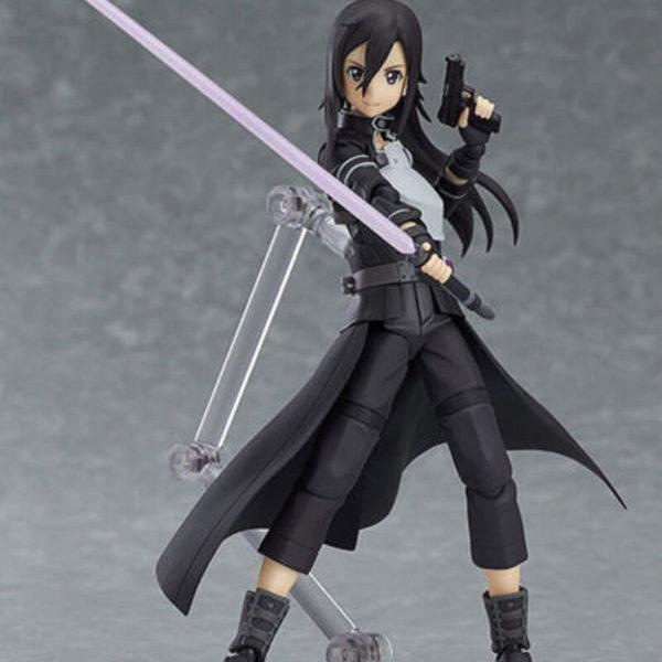 На картинке фигурка Кирито девушка подвижная — Sword Art Online 2 (GGO), вид спереди.