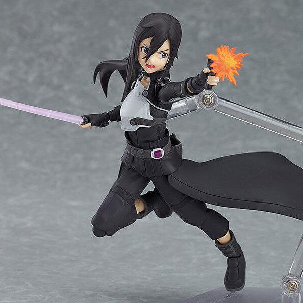 На картинке фигурка Кирито девушка подвижная — Sword Art Online 2 (GGO), общий вид.