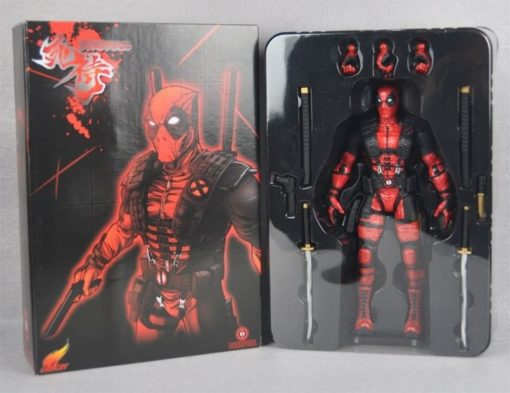 На картинке фигурка Дедпул Люди Икс (Дэдпул \ Deadpool X MEN), вид в упаковке.