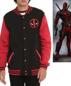 На картинке куртка с Дэдпулом (Дедпул \ Deadpool), вид спереди.