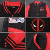 На картинке куртка с Дэдпулом (Дедпул \ Deadpool), детали.