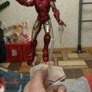 Подвижная фигурка Железного Человека (Iron Man), реальное фото