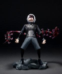 На картинке фигурка Кена Канеки «Токийский гуль» (Tokyo Ghoul), вид с разных спереди.