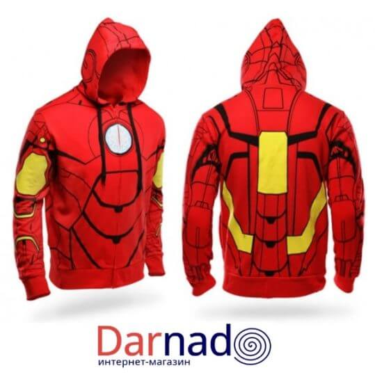 Толстовка костюм Железного Человека (Iron Man), вид спереди и сзади