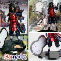 На картинке фигурка Мадара Учиха (Наруто \ Naruto), детали.