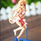 На картинке фигурка Асуна-тян в купальнике «Sword Art Online», детали.