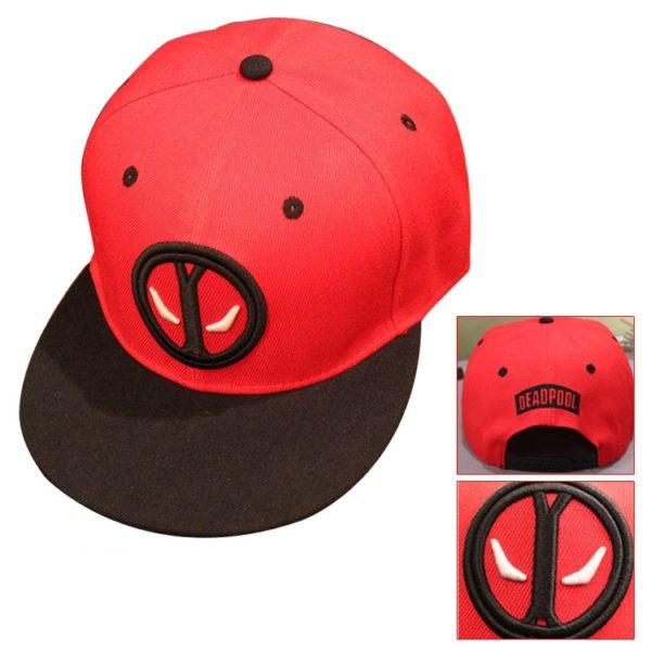 На картинке кепка Дэдпул (Дедпул \ Deadpool) — 4 варианта, вариант 1.
