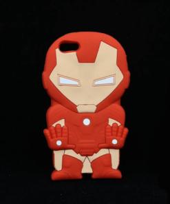 На картинке силиконовый чехол Железный Человек (на айфон 5-5S-6) (Iron Man), вид сзади.