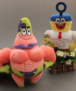 На картинке мягкие игрушки Губка «Спанч» Боб и Патрик «Стар».