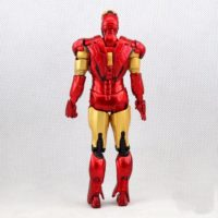 На картинке модель (статуэтка) Тони Старка в костюме Железного Человека (Iron Man Mark 42), вид сзади.