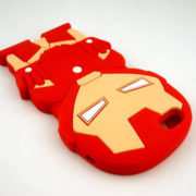 Силиконовый чехол Железный Человек (на айфон 5-5S-6) (Iron Man) фото