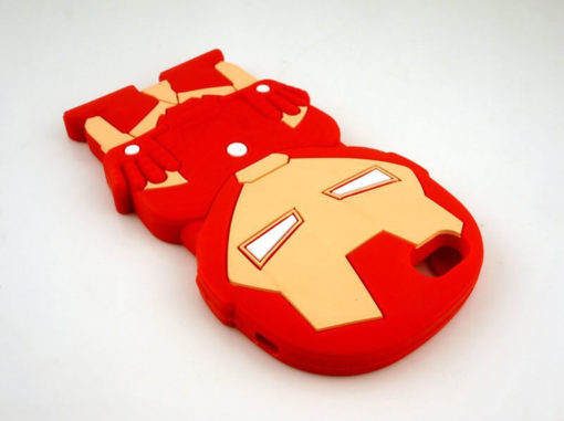На картинке силиконовый чехол Железный Человек (на айфон 5-5S-6) (Iron Man), общий вид.