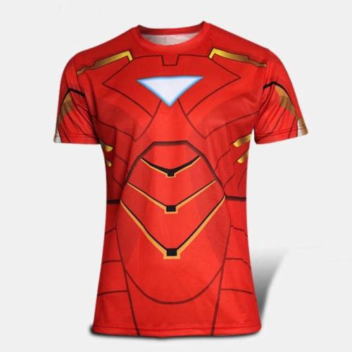 На картинке футболка Железный Человек (Iron Man), вид спереди.