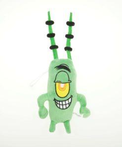 На картинке мягкая игрушка Планктон из Спанч Боба, вид спереди.