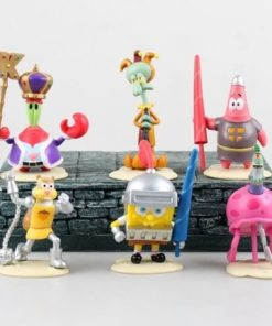 На картинке набор фигурок Спанч Боб (Губка Боб) 6 шт.