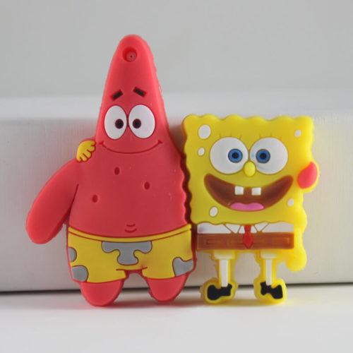 На картинке флешка Губка боб (Спанч Боб) и Патрик, вид спереди.