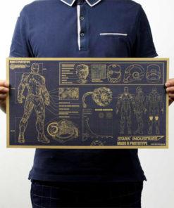 На картинке плакат Железный человек (Iron Man), общий вид.