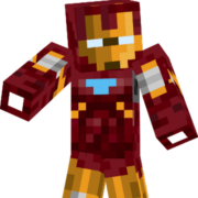 Минифигурка Железный Человек в стиле Майнкрафт (Iron Man) фото