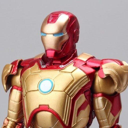 На картинке фигурка Железный Человек Марк 42 (Iron Man), детали.