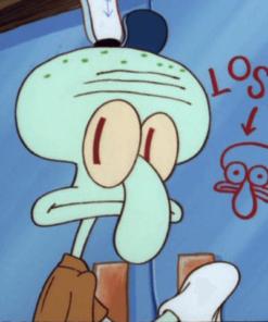 На картинке мягкая игрушка Сквидвард из Спанч Боба, кадр из сериала.