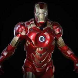 На картинке игрушечный Железный Человек Марвел (Iron Man), промо к фильму.