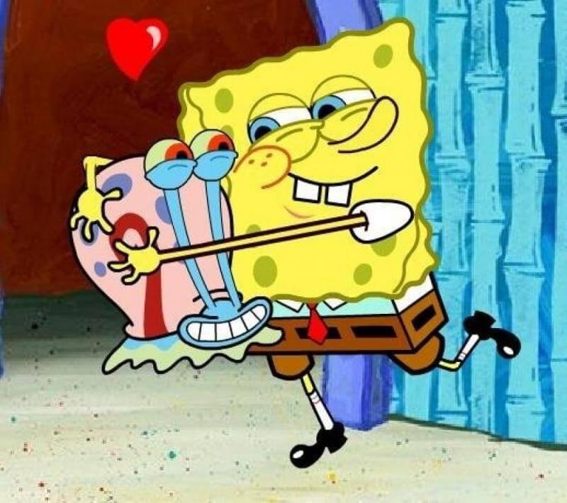 На картинке мягкая игрушка Улитка Гэри из Спанч Боба, кадр из сериала.
