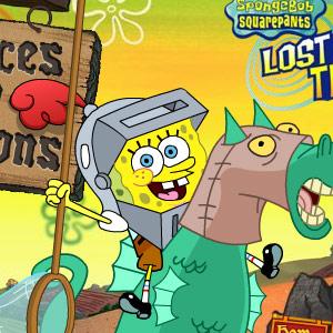 На картинке набор фигурок Спанч Боб (Губка Боб) 6 шт, кадр из сериала.