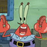 На картинке мягкая игрушка Мистер Крабс из Спанч Боба, кадр из сериала.