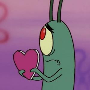 На картинке мягкая игрушка Планктон из Спанч Боба, кадр из сериала.