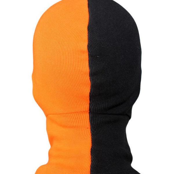 На картинке маска Дестроука (Deathstroke), вид сзади.