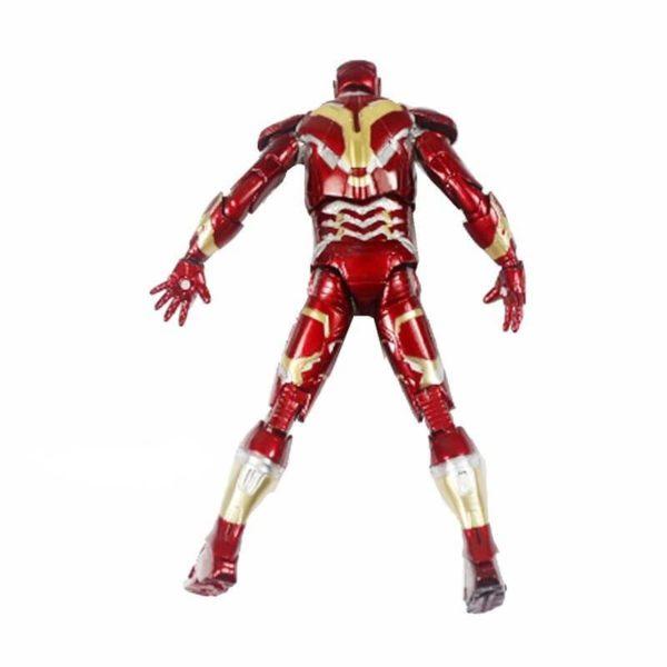 На картинке фигурка Железный Человек (Marvel Legends) (Iron Man), вид сзади.